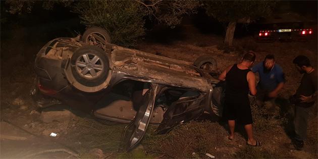 Dün akşamki trafik kazasında 3 kişi yaralandı