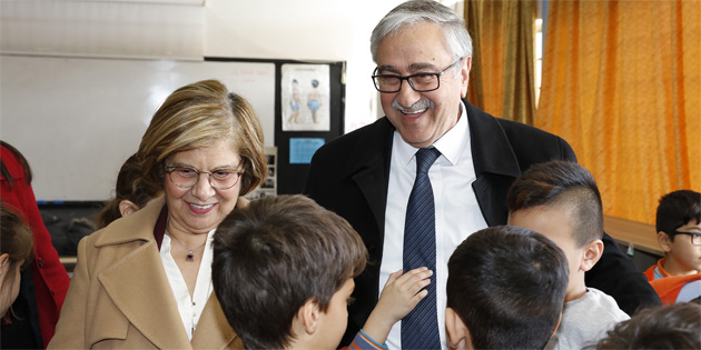 Akıncı Polatpaşa İlkokulu'nda iklim değişikliği eğitimini izledi