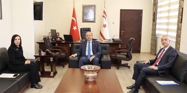 Başbakan Tatar Sayıştay Başkanı Korahan ve Ombudsman Dizdarlı'yı kabul etti
