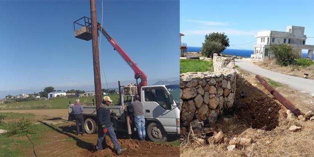 Yenierenköy ve Bostancı kırsal kesim arsalarına elektrik enerjisi götürüldü