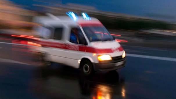 2 metre yüksekten düşen kadın başından yaralandı