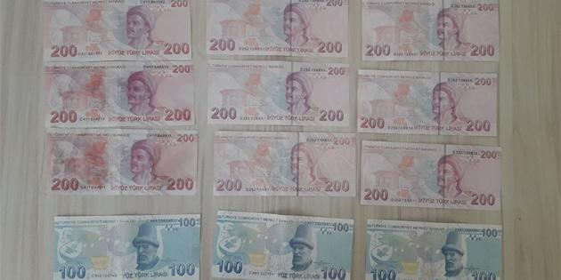 Gazimağusa'da sahte 100 ve 200 TL'lik banknot ele geçirildi