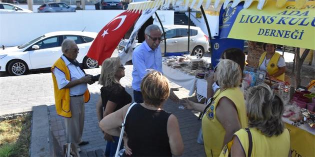 Lösemili çocuklar yararına Girne'de kermes düzenlendi
