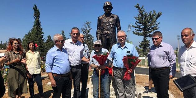 ''Madenci heykeli'' iki toplumun katılımıyla açıldı