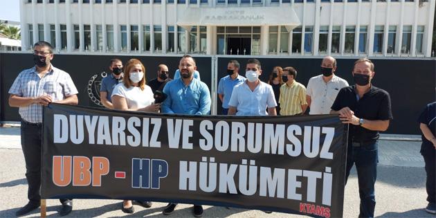 KTAMS Başbakanlık önünde eylem yaptı: 'Grev devam edecek'