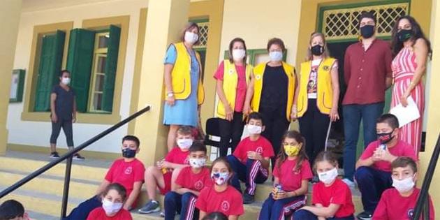 Girne Ada Lions Kulübü ve Girne Leo Kulübü Esentepe İlkokulunda göz taraması gerçekleştirdi