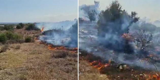 İskele-Ardahan arasında bulunan çöplük alanda yangın