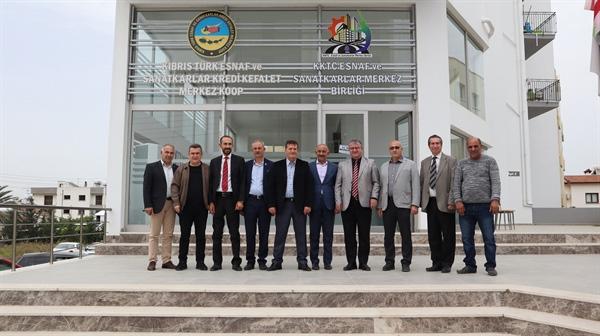 YDP Heyeti, Esnaf ve Sanatkarlar Merkez Birliği'ni ziyaret etti