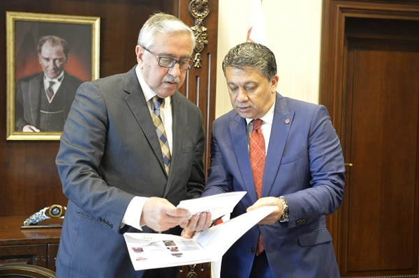 Cumhurbaşkanı Akıncı, Küresel Gazeteciler Konseyi başkanı Mehmet Ali Dim'i kabul etti