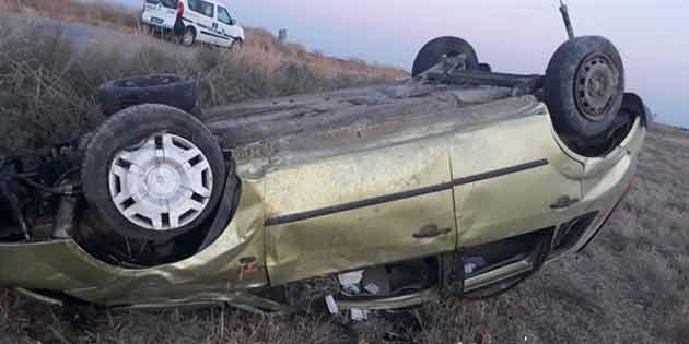 Nergisli yolunda trafik kazası