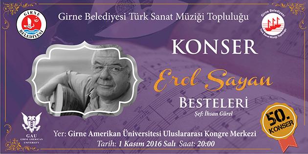 Girne belediyesi TSM toplulu�u sal� ak�am� konser verecek