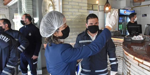 Girne'de gıda denetimleri ve Covid-19 kontrolleri devam ediyor