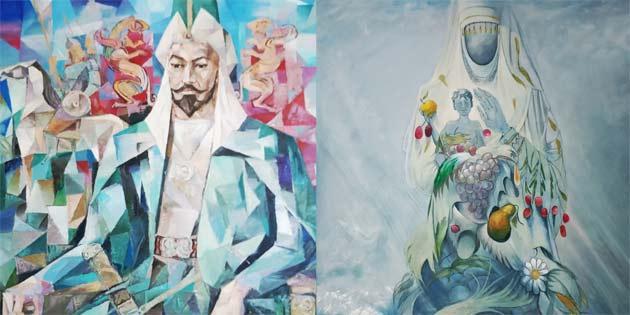 """""""Kazakistan sanatçıları resim sergisi"""" Perşembe günü YDÜ'de açılacak"""