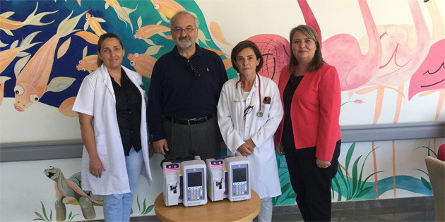 DAÜ, Çocuk Onkolojisi Bölümü'ne cihaz bağışladı