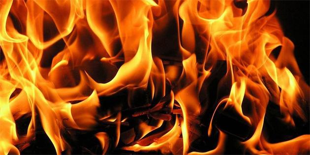 Mallıdağ ve Arıdamı köyü arasında yangın çıktı