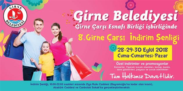 Girne'de 3 günlük çarşı şenliği düzenleniyor