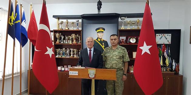 Töre, 14. Zırhlı Tugay Komutanı Dirican'ı ziyaret etti