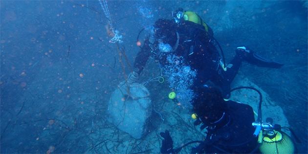 Üç bin yıllık Mısır çapası denizden çıkarıldı