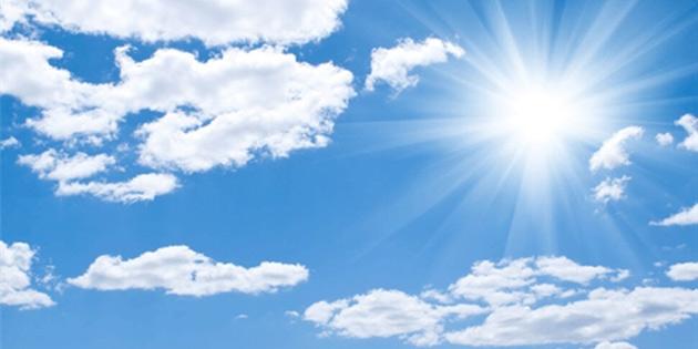 Hafta boyunca hava az bulutlu zamanla parçalı bulutlu olacak