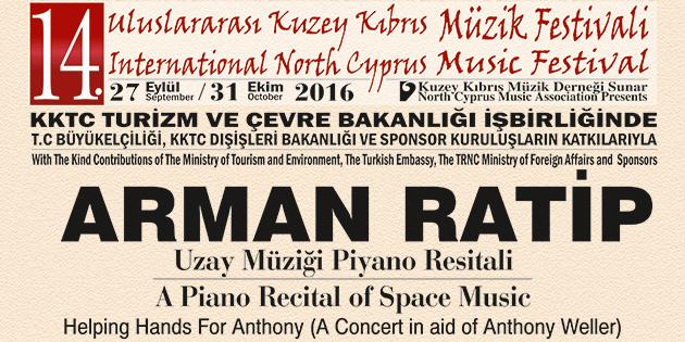 Piyanist-besteci Arman Ratip, yar�n ak�am Bellapais'te piyano resitali verecek