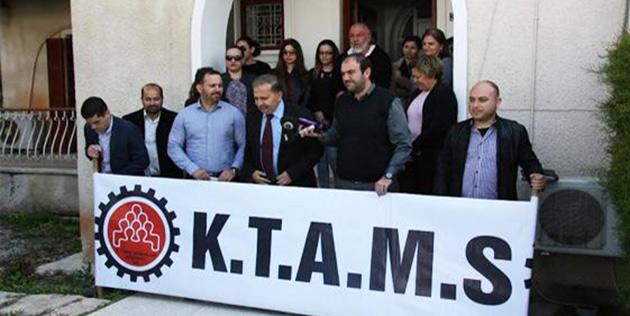 KTAMS, bugün Rum Basın Özetleri Birimi'nde tam gün grev yapıyor...