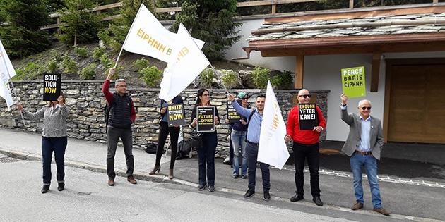 """#UNITECYPRUSNOW"""" GRUBU BARIŞ ÇAĞRISINI CRANS-MONTANA'DA YİNELEDİ"""