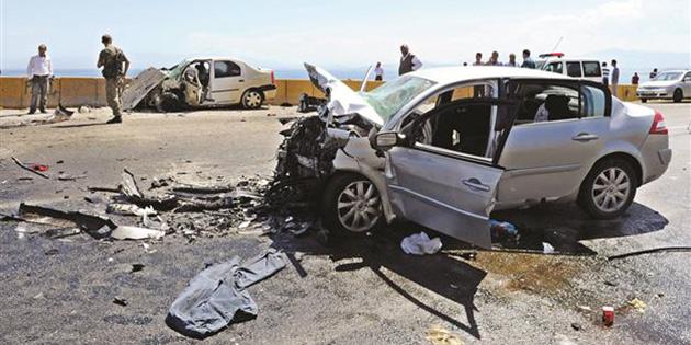 Bir haftada trafik kazalarında 2 kişi öldü