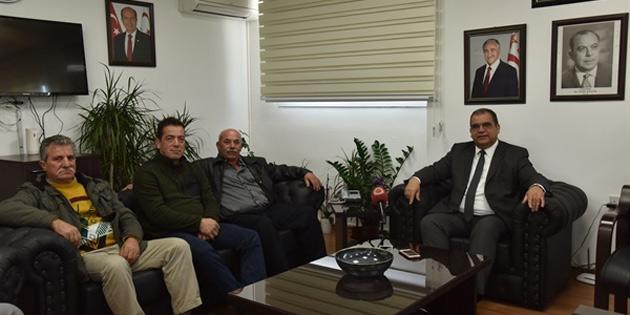 Bakan Sucuoğlu Balıkçılar Birliği heyetini kabul etti