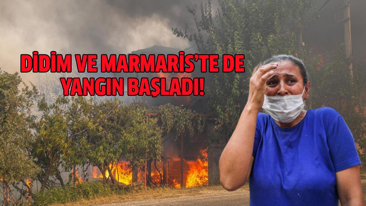 Didim ve Marmaris'te de yangın çıkardılar!!!