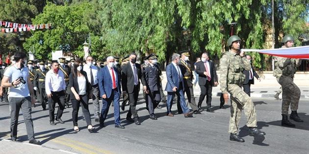 Güzelyurt'ta 29 Ekim Cumhuriyet Bayramı töreni düzenlendi