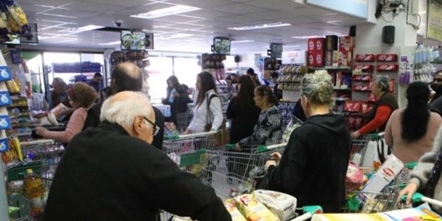 Girne'de bulunan 5 büyük market çalışanında pozitif vaka yok