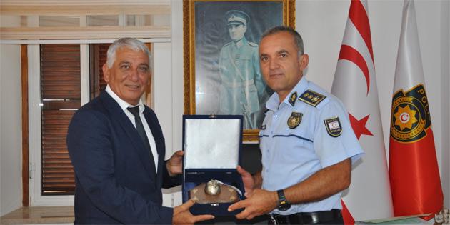 Özçınar, Güzelyurt Polis Müdürlüğü'ne teşekkür etti