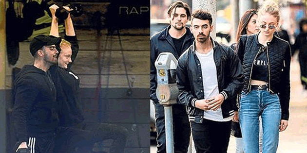 Joe Jonas ve Sophie Turner sporda!