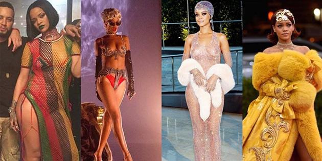 Rihanna'nın kırmızı halı stili çorap oldu