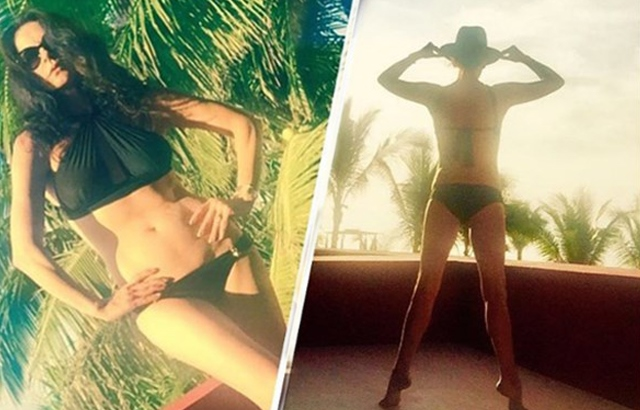 Catherine Zeta-Jones'tan bikinili pozlar!