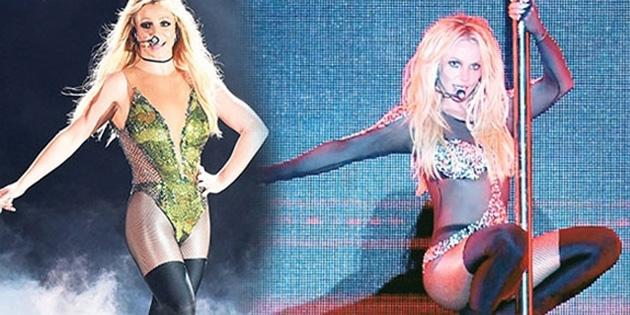 Britney Spears'tan direk dansı!