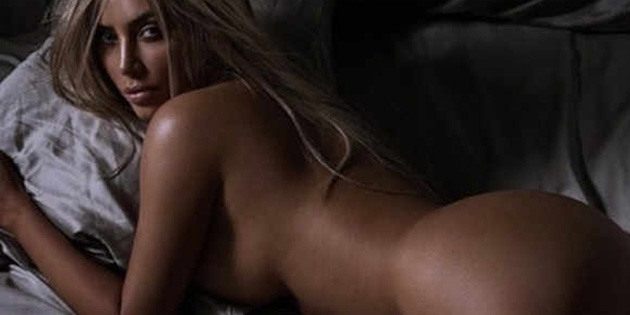 Kim Kardashian çırılçıplak...