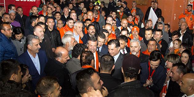 UBP LEFKE'DE ADAY TANITIM MİTİNGİ DÜZENLEDİ