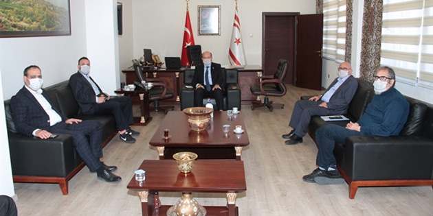 Başbakan Tatar, Tdp heyetiyle görüştü