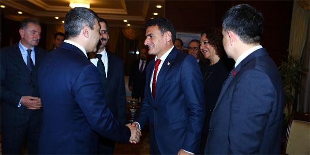 Dursun Oğuz Azerbaycan ve Türkiye Tarım Bakanlarıyla görüştü