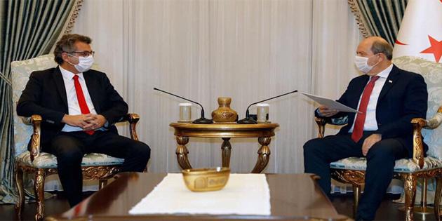 Cumhurbaşkanı Tatar, CTP Genel Başkanı Erhürman ile görüştü
