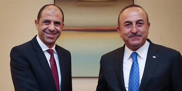 Özersay Ankara'da çavuşoğlu ile görüştü
