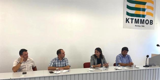 İçişleri Bakanı Baybars, KTMMOB'u ziyaret etti