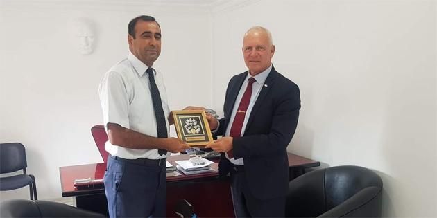 Zorlu Töre, İnönü Belediye Başkanı Ali Öncü'yü ziyaret etti