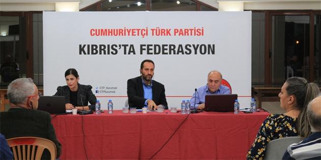 """CTP ile AKEL """"Kıbrıs'ta federasyon"""" konulu konferans düzenlendi"""