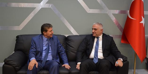 Üstel, TC Kültür ve Turizm Bakanı Mehmet Nuri Ersoy ile bir araya geldi