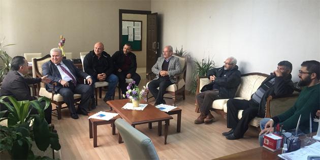 TKP-YG heyeti Çanakkale Ortaokulu'nu ziyaret etti