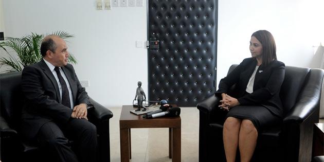 TC Lefkoşa Büyükelçisi Başçeri, İçişleri Bakanı Baybars'ı ziyaret etti
