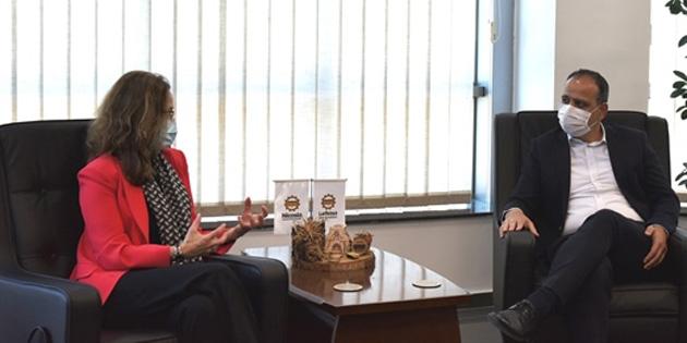 LTB Başkanı Harmancı, Fransa Büyükelçisi Salina Grenet-Catalano'yu kabul etti