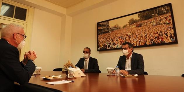 CTP Genel Başkanı Erhürman, Almanya'nın Kıbrıs Büyükelçisi Kremp'i kabul etti